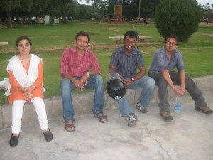 Savita, Abhi, Deepak, Hashir