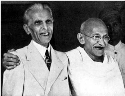 Gandhi and Jinnah in Happier times