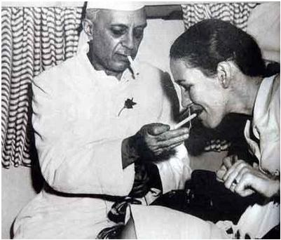 Nehru Smoking!